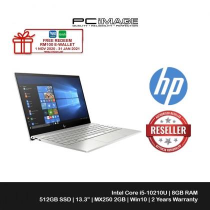 HP ENVY 13-Aq1068TX 13.3'' FHD Laptop Natural Silver (I5-10210U, 8GB, 512GB, MX250 2GB, W10, Office H&S)