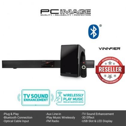 VINNFIER Hyperbar 300BTR Wireless Bluetooth Soundbar Speaker & Bass subwoofer with Optical Cable Input