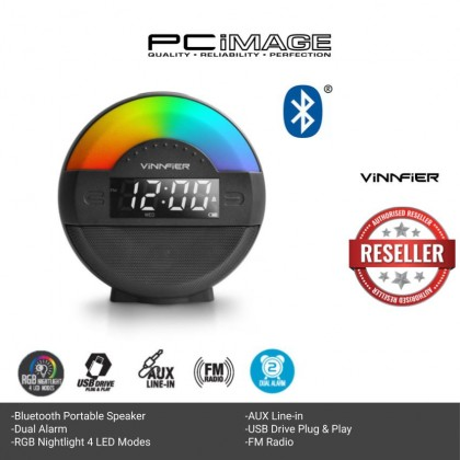 VINNFIER Neo Air 5 Wireless Portable Bluetooth Speaker with Alarm Clock FM Radiocard and USB Slot