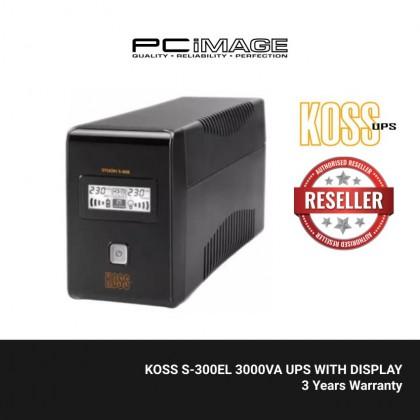 KOSS S-300EL 3000VA UPS WITH DISPLAY
