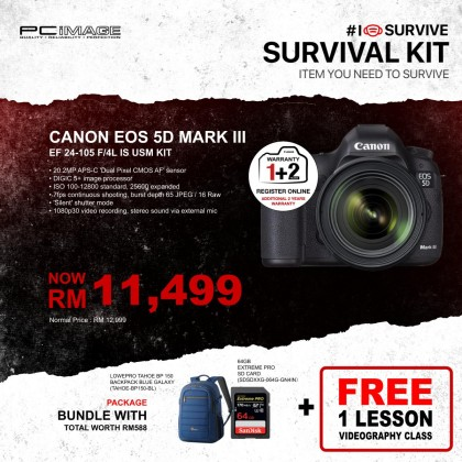 Canon 5D Mark III with 24-105mm f/4L IS USM AF Lens