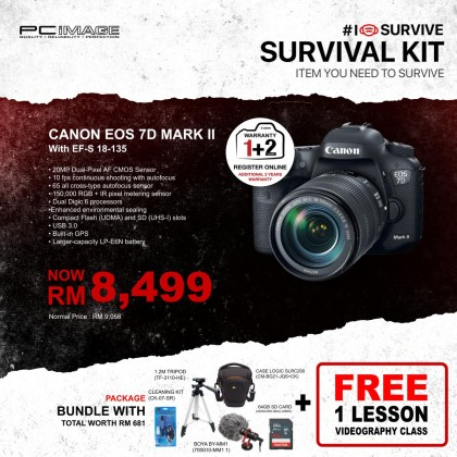 CANON EOS 7D MARK II EF-S 18-135 IS STM DIGITAL CAMERA