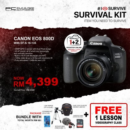 CANON EOS 800D Kit (EF S18-135mm f/3.5-5.6 IS STM)