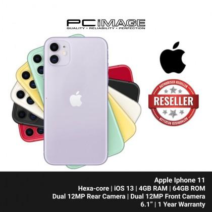 """APPLE Iphone 11 Smartphone 6.1"""" (64GB ROM, 4GB RAM, Hexa-core, iOS 13, Dual 12MP Rear, Dual 12MP Front Camera, 3110 mAh)"""