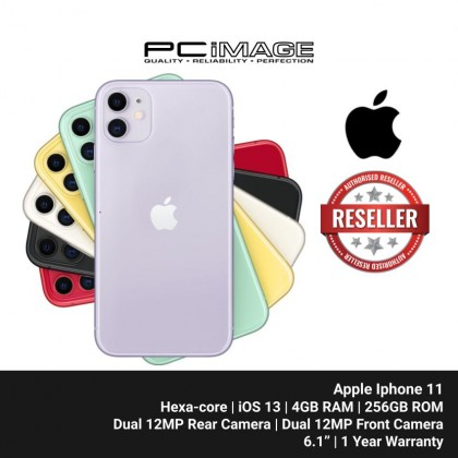 "APPLE Iphone 11 Smartphone 6.1"" (256GB ROM, 4GB RAM, Hexa-core, iOS 13, Dual 12MP Rear, Dual 12MP Front Camera, 3110 mAh)"