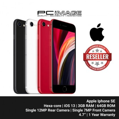 "APPLE Iphone SE Smartphone 4.7"" (64GB ROM, 3GB RAM, Hexa-core, iOS 13, Single 12MP Rear, Single 7MP Front Camera, 1821 mAh)"