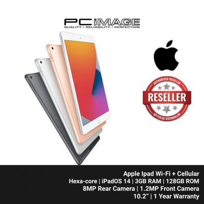 "APPLE Ipad Wi-Fi + Cellular 128GB 10.2"" (Hexa-core, iPadOS, 3GB RAM, 128GB ROM, 8MP Rear, 1.2MP Front Camera)"