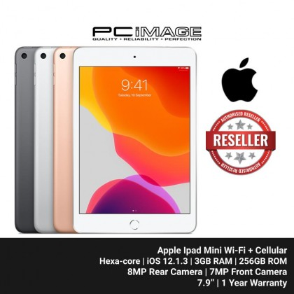 "[Pre-Order] APPLE Ipad Mini Wi-Fi + Cellular 256GB 7.9"" (Hexa-core, iOS 12.1.3, 3GB RAM, 256GB ROM, 8MP Rear, 7MP Front Camera)"