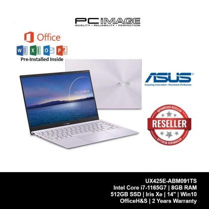 ASUS Zenbook (UX425E-ABM091TS)/ i7-1165G7/ 8GB RAM/ 512GB SSD/ Intel Xe Graphics/ Windows 10/ Office H&S/ 2 Years Warranty