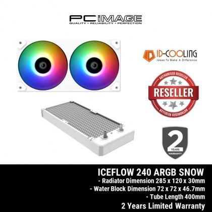 ID-COOLING ICEFLOW 240 ARGB SNOW CPU LIQUID COOLING