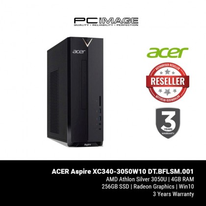 ACER Aspire XC340-3050W10 Desktop PC (Athlon 3050U, 4GB, 256GB, Win10)
