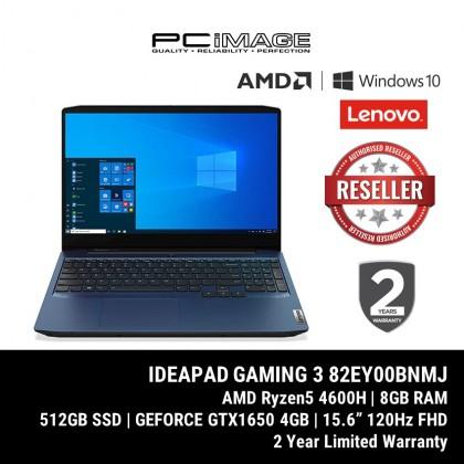 "LENOVO IdeaPad Gaming 3 15ARH05-82EY00BNMJ 15.6"" Gaming Laptop - Chameleon Blue (Ryzen5-4600H, 8GB, 512GB, GTX1650, Win10)"