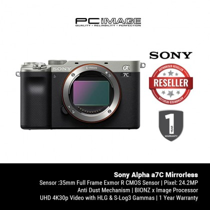 [ PRE-ORDER ] Sony Alpha a7C Mirrorless Digital Camera (Body Only)