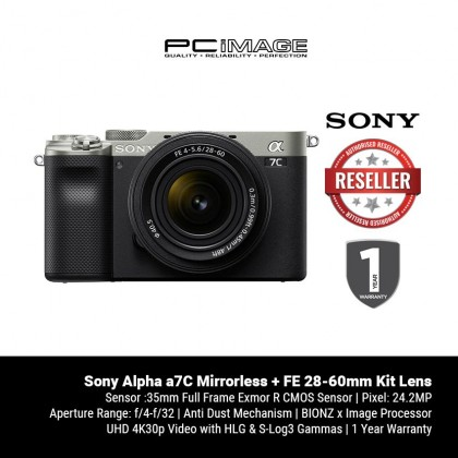 [ PRE-ORDER ] Sony Alpha a7C Mirrorless Digital Camera + FE 28-60mm Kit Lens