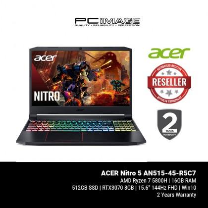 "ACER Nitro 5 AN515-45-R5C7 15.6"" 144Hz Gaming Laptop - Black (Ryzen7-5800H, 16GB, 512GB, RTX3070, Win10)"