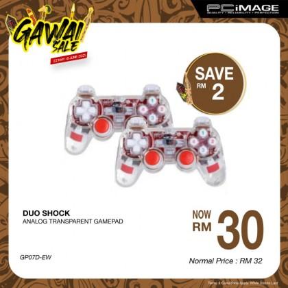 Usb Duo Shock Transparent Gamepad