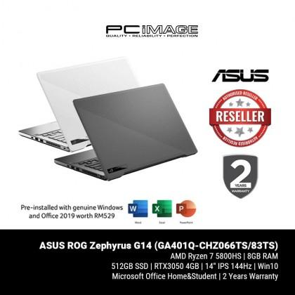 ROG Zephyrus G14 (GA401Q-CHZ066TS/83TS)/ R7 5800HS/ 8GB RAM/ 512B SSD/ RTX 3050 4GB/ 144Hz / FHD/ HNS/ 2 Yrs Warranty