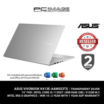 "ASUS VIVOBOOK 14 (K413E-AAM551TS / 553TS/870TS ) )/ i5-1135G7/ 8GB RAM/ 512GB SSD/ Intel® Iris Xe Graphics/ 14""FHD (TOUCH)/ 2 Yrs Warranty"
