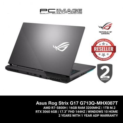 ROG STRIX G17 (G713Q-MHX087T)/ R7 5800H/ 16GB RAM/ 1TB SSD/ RTX 3060/ 144Hz/ FHD/ 2 Yrs Warranty