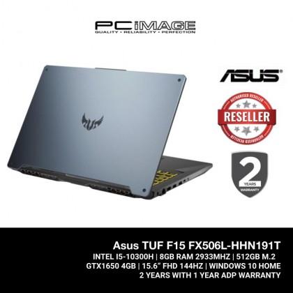 TUF Gaming F15 (FX506L-HHN191T)/ I5-10300H/ 8GB RAM/ 512GB M.2/ GTX1650Ti / 144HZ FHD/ 2 Yrs Warranty