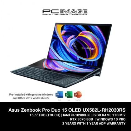 ASUS ZENBOOK PRO DUO 15 OLED (UX582L-RH2030RS)/ I9-10980HK/ 32GB RAM / 1TB SSD/ OLED UHD/ RTX 3070/ W10 PRO /2 Yrs Warranty