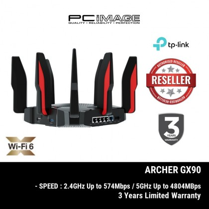 TP-LINK ARCHER GX90 AX6600 Tri-Band Wi-Fi 6 Gaming Router