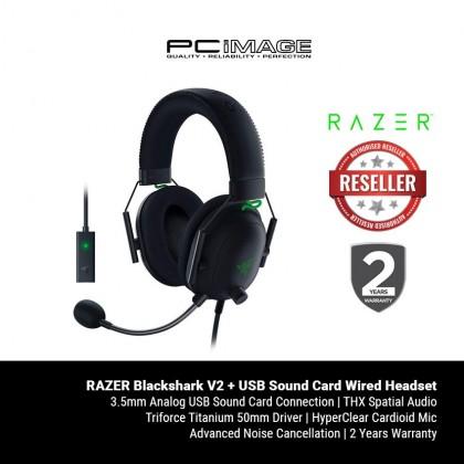 RAZER Blackshark V2 + USB Sound Card Multi-Platform Wired E-Sports Headset