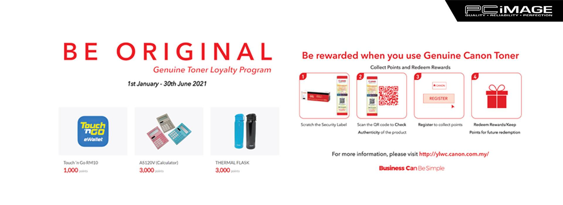 Genuine Toner Loyalty Program 30 June
