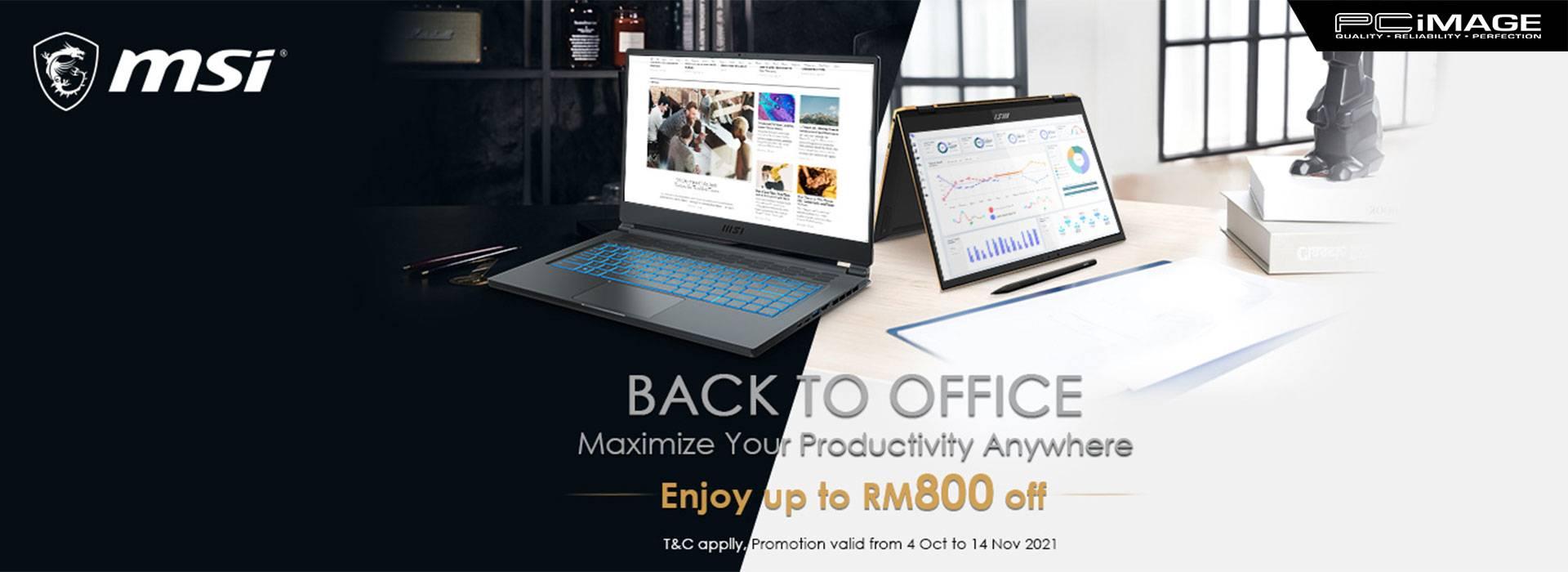 Msi Back to Office Promo 15 Nov
